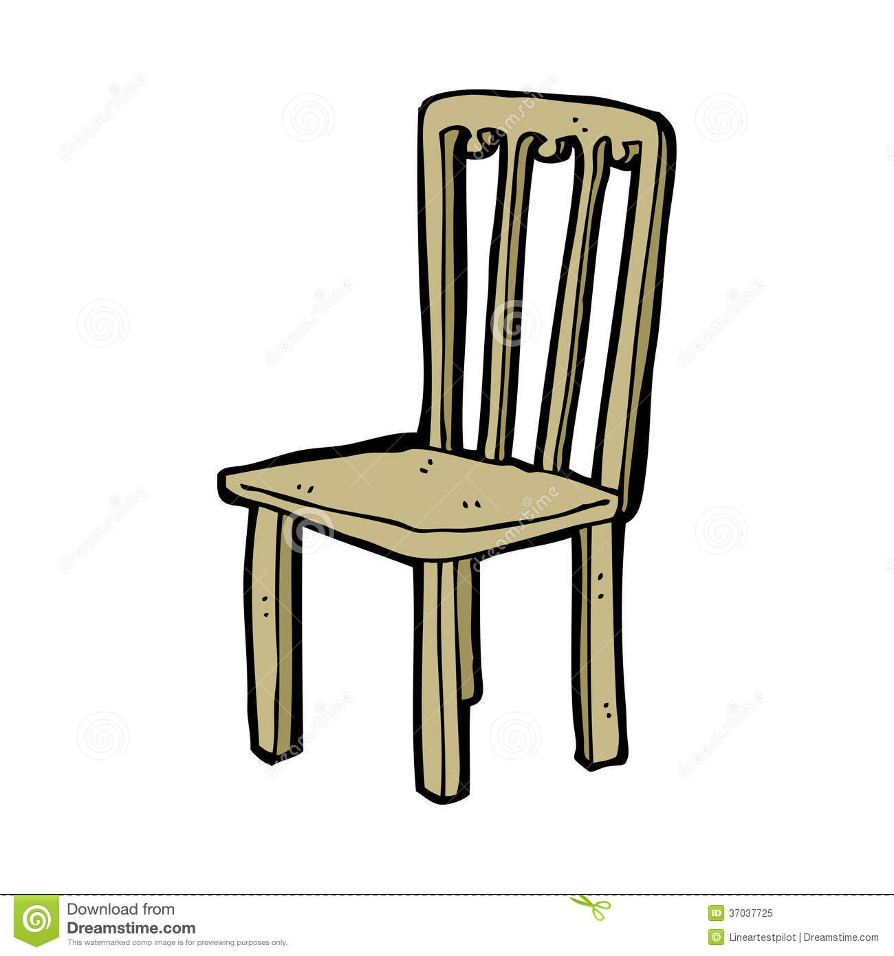 Cartoon old chair for Chaise 3d dessin