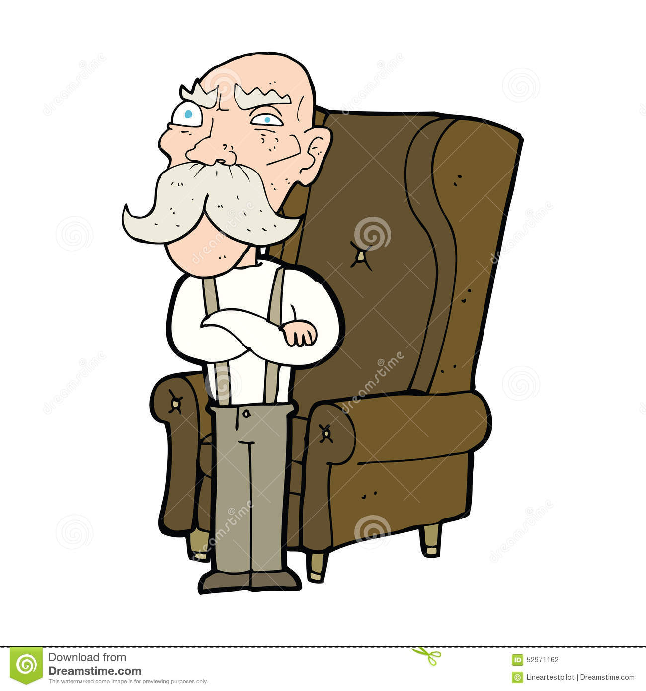 Cartoon Characters Old Man : Cartoon old man and chair stock illustration image