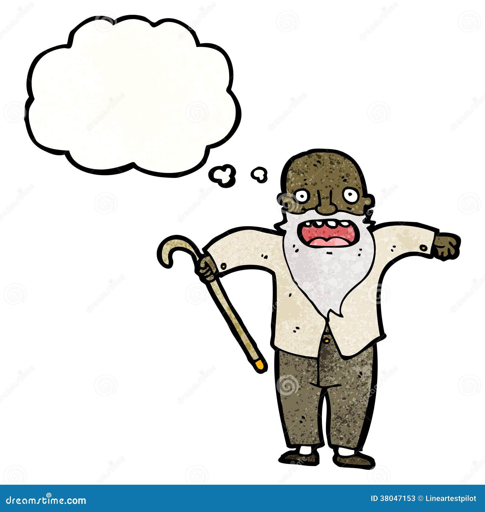 More similar stock images of ` cartoon old man with walking stick ` Old Man Walking Cartoon