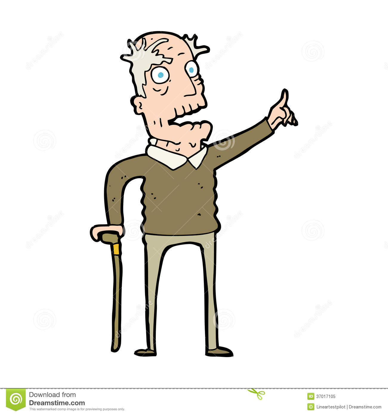 Cartoon Old Man With Walking Stick Royalty Free Stock Photo - Image ... Old Man Walking Cartoon