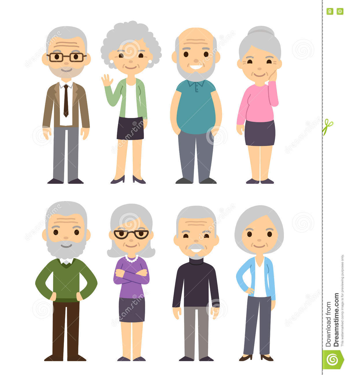 Cartoon old people mature