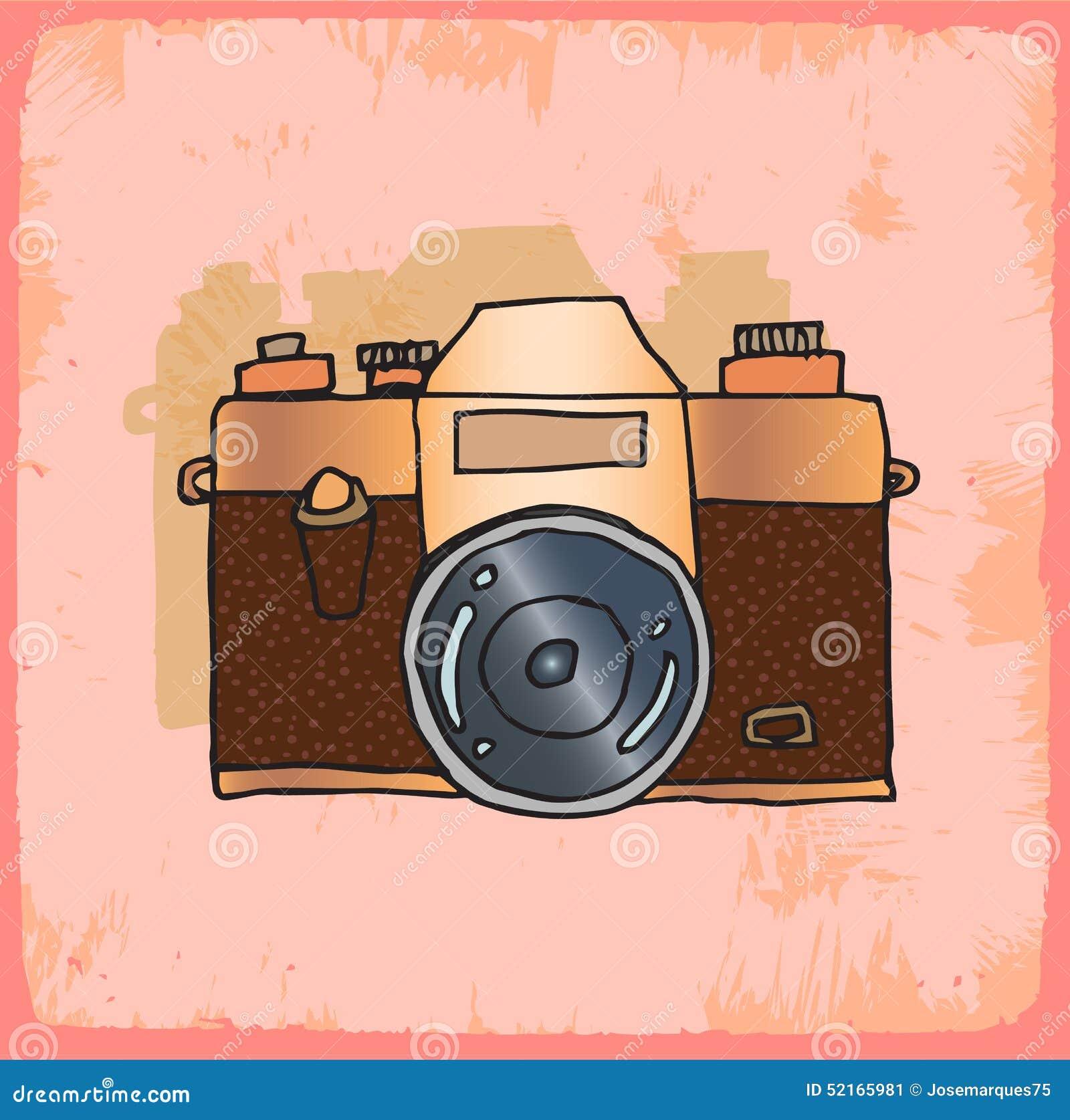 Cartoon Old Photo Camera Illustration Vector Icon Bubble Expression