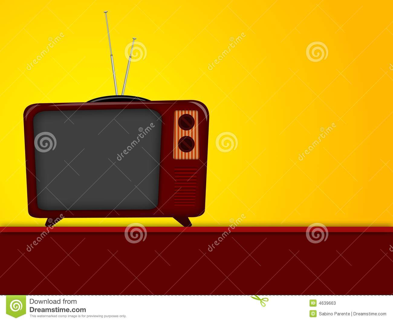 Cartoon of old television