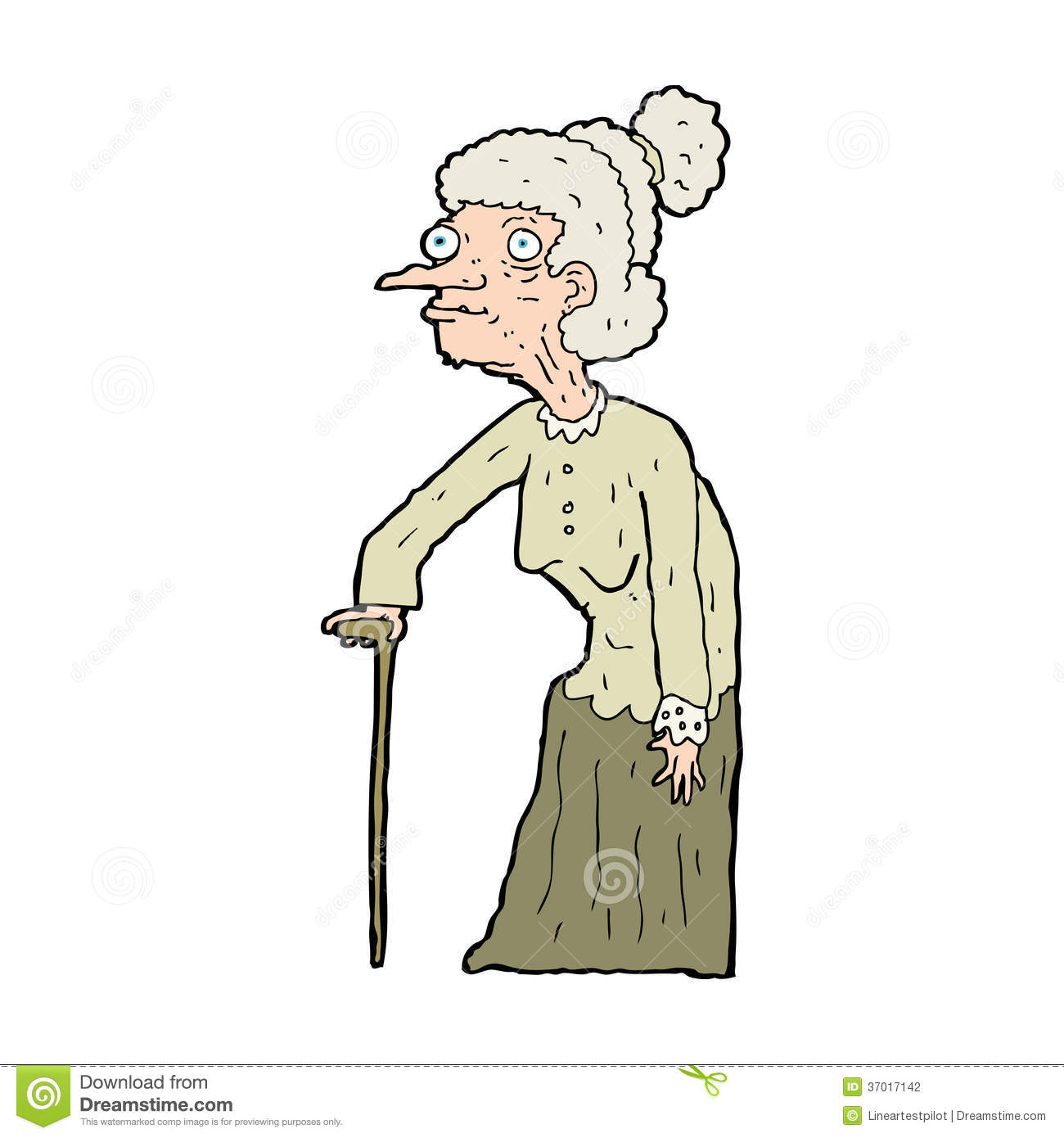 It is an image of Bewitching Old Hand Drawing Of Woman