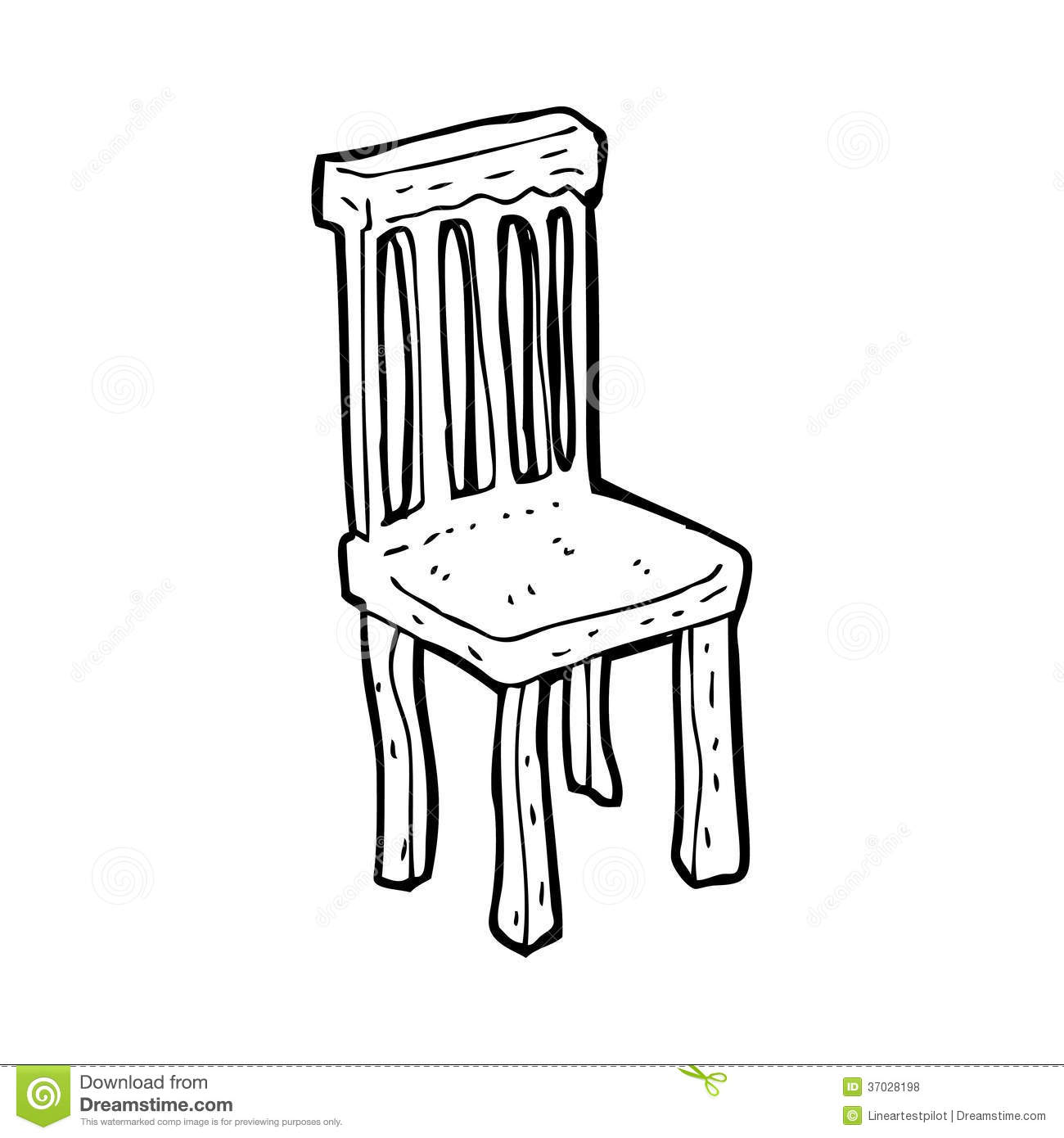 Cartoon Old Wooden Chair Royalty Free Stock Photos Image