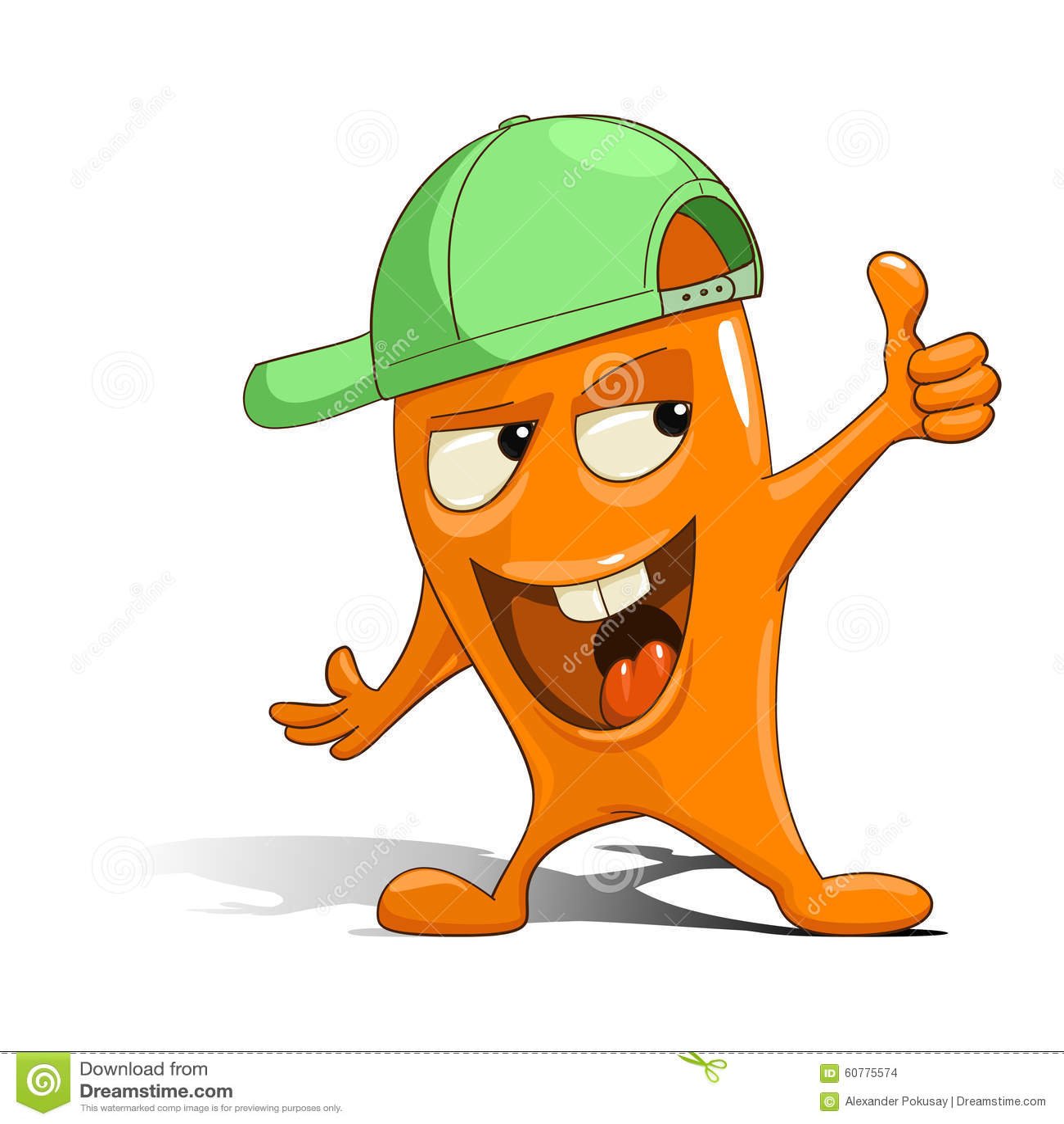 Cartoon Characters Green : Green cartoon character with hat adultcartoon