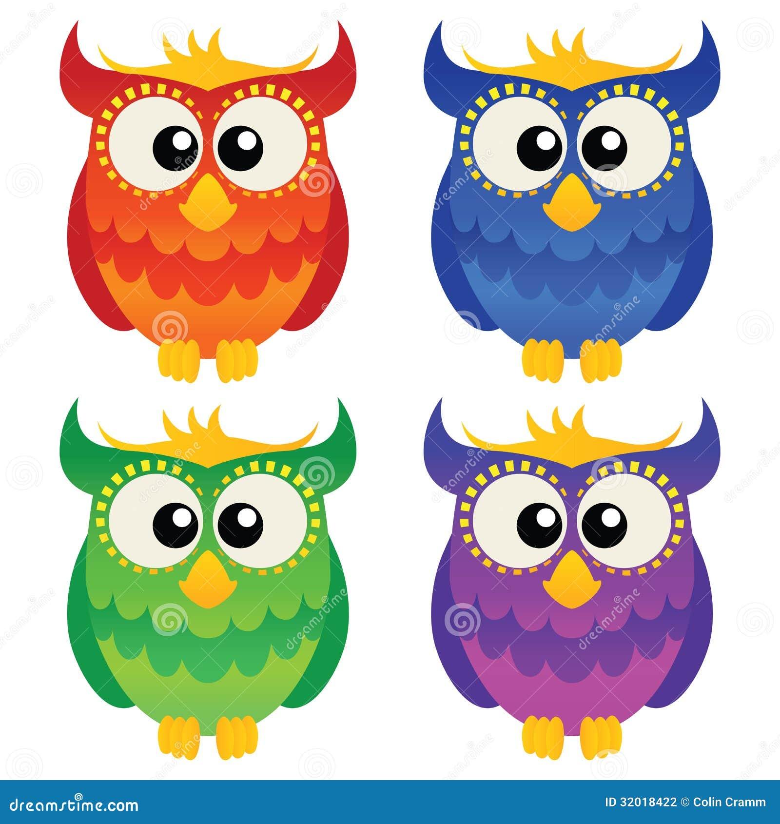 Cartoon Owl Set Stock Photography - Image: 32018422
