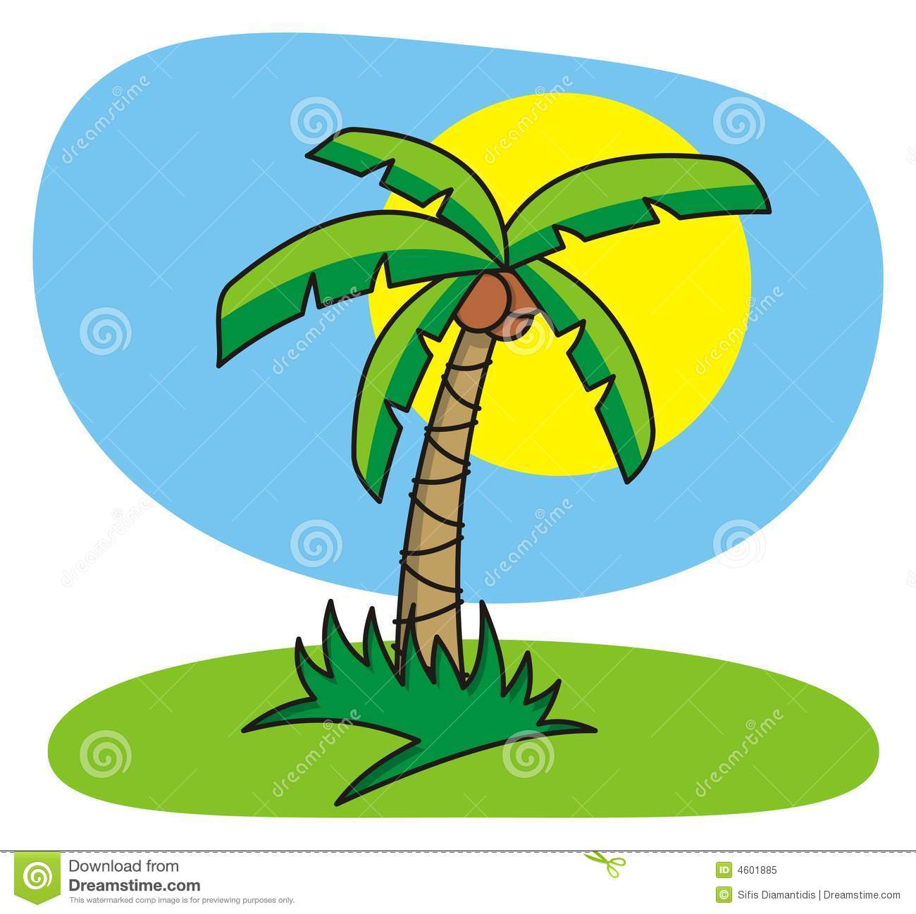 cartoon palm tree royalty free stock photo image 4601885