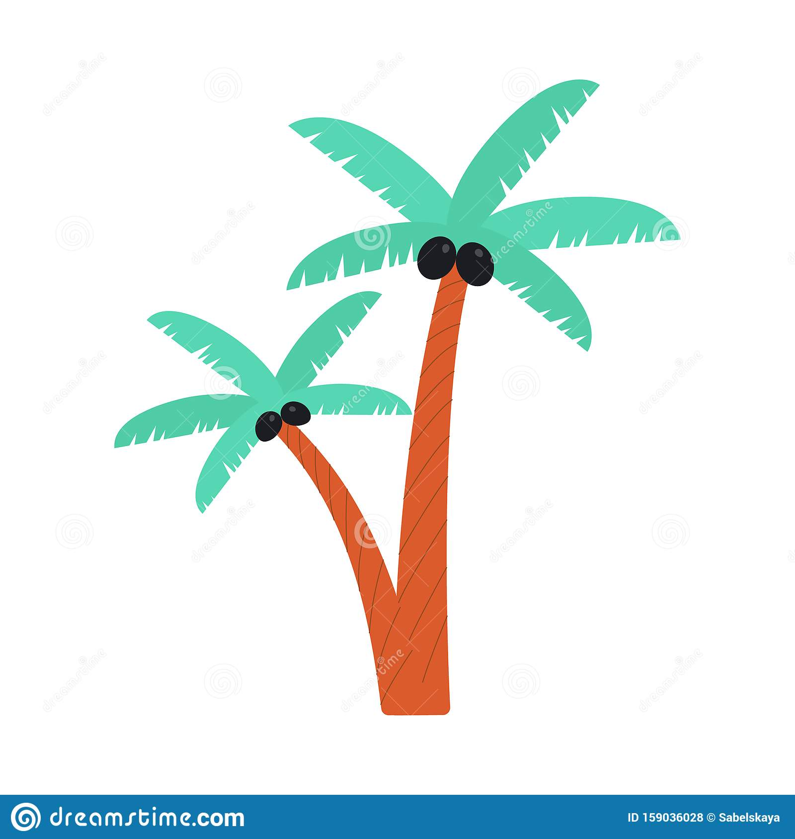 Cartoon Palm Tree Drawing With Black Coconuts Isolated On White Background Stock Vector Illustration Of Tree Branch 159036028 Tree no leaves drawing at getdrawings | free download. dreamstime com