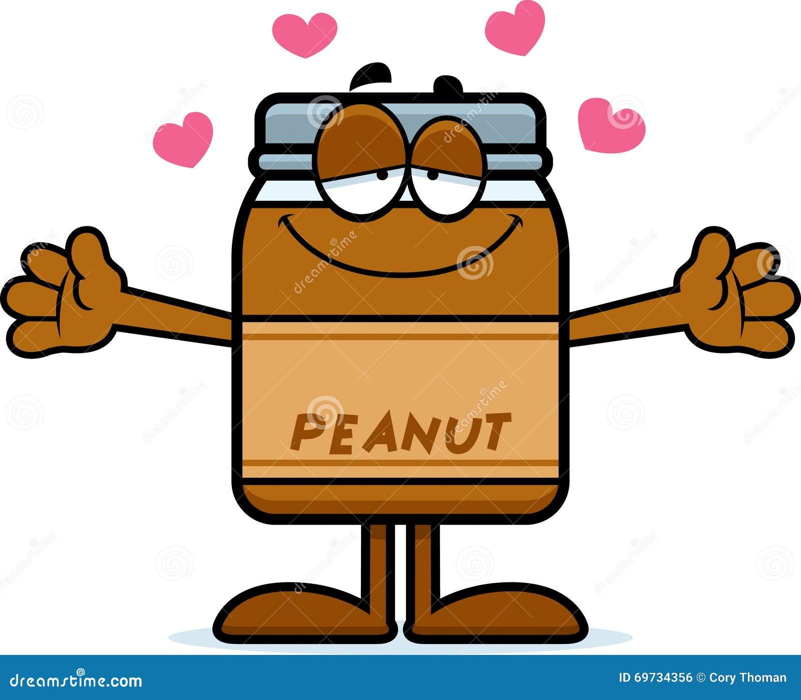 Peanut butter jar cartoon