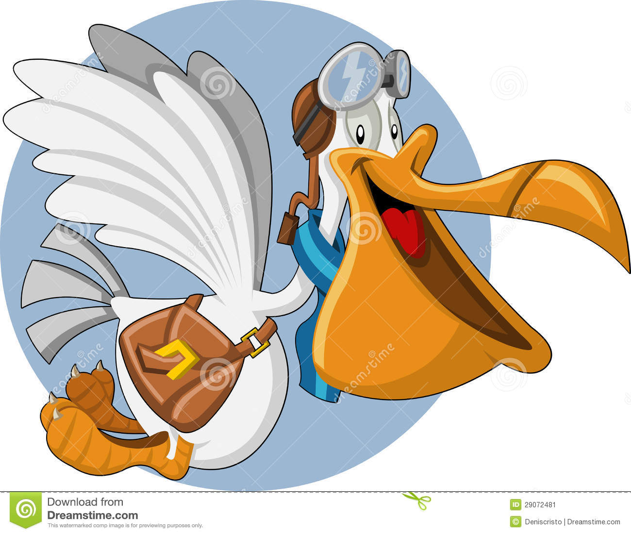 Cartoon pelican