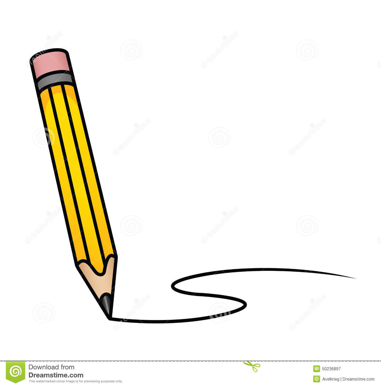 Pencil Drawing Images Cartoons: Cartoon Pencil Stock Vector