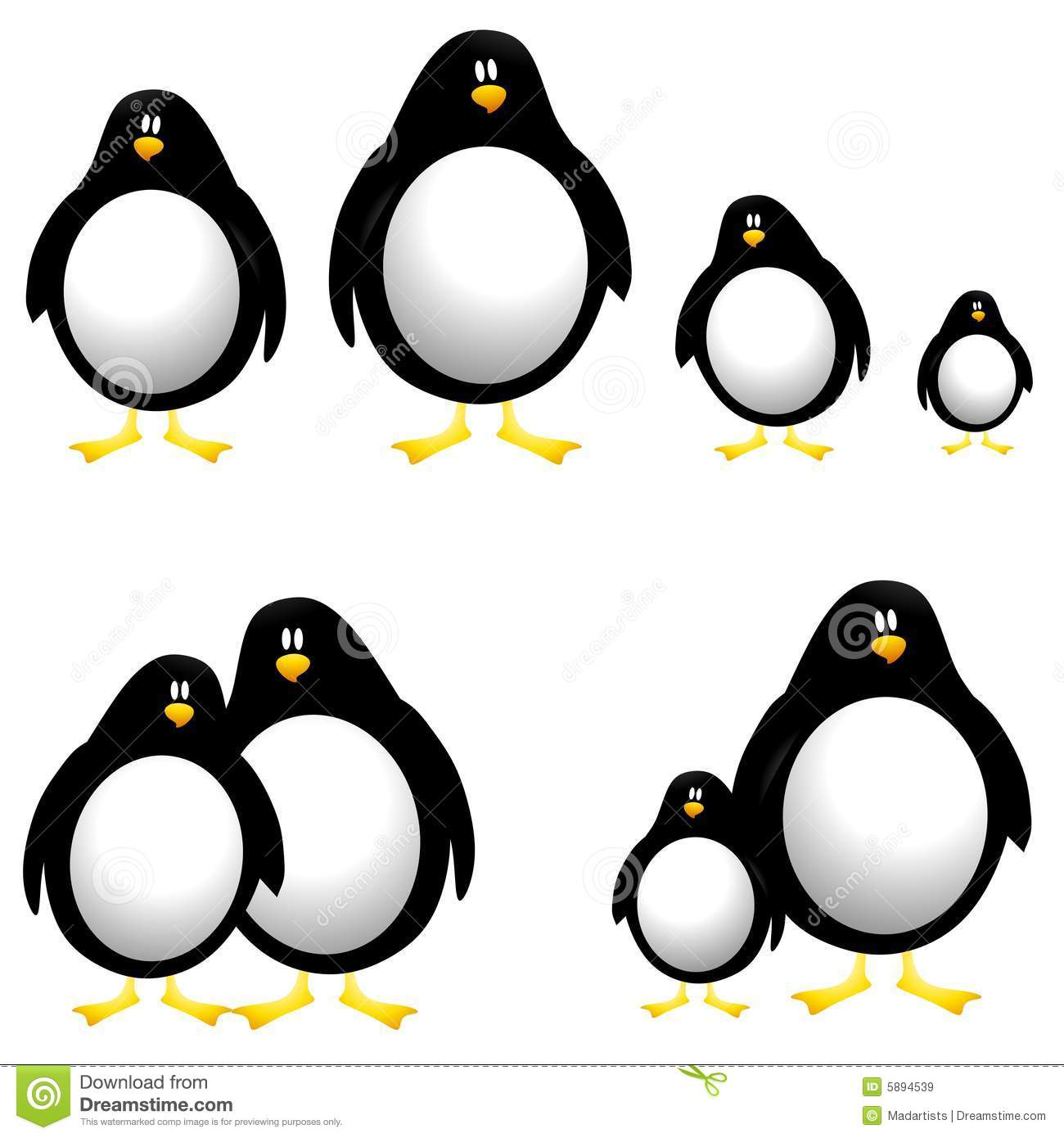 Cartoon penguins clip art stock illustration illustration of black cartoon penguins clip art voltagebd Choice Image