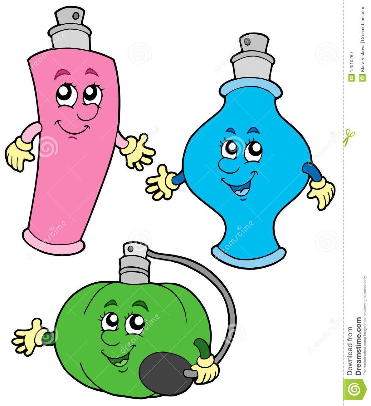 Cartoon Perfumes Collection Royalty Free Stock Images - Image ...