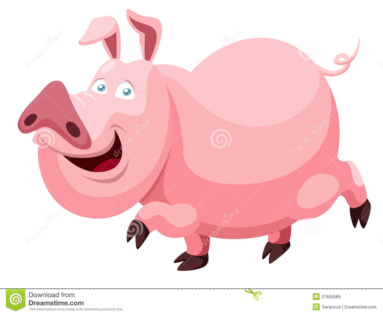 Cartoon Pig Royalty Free Stock Images - Image: 27650589