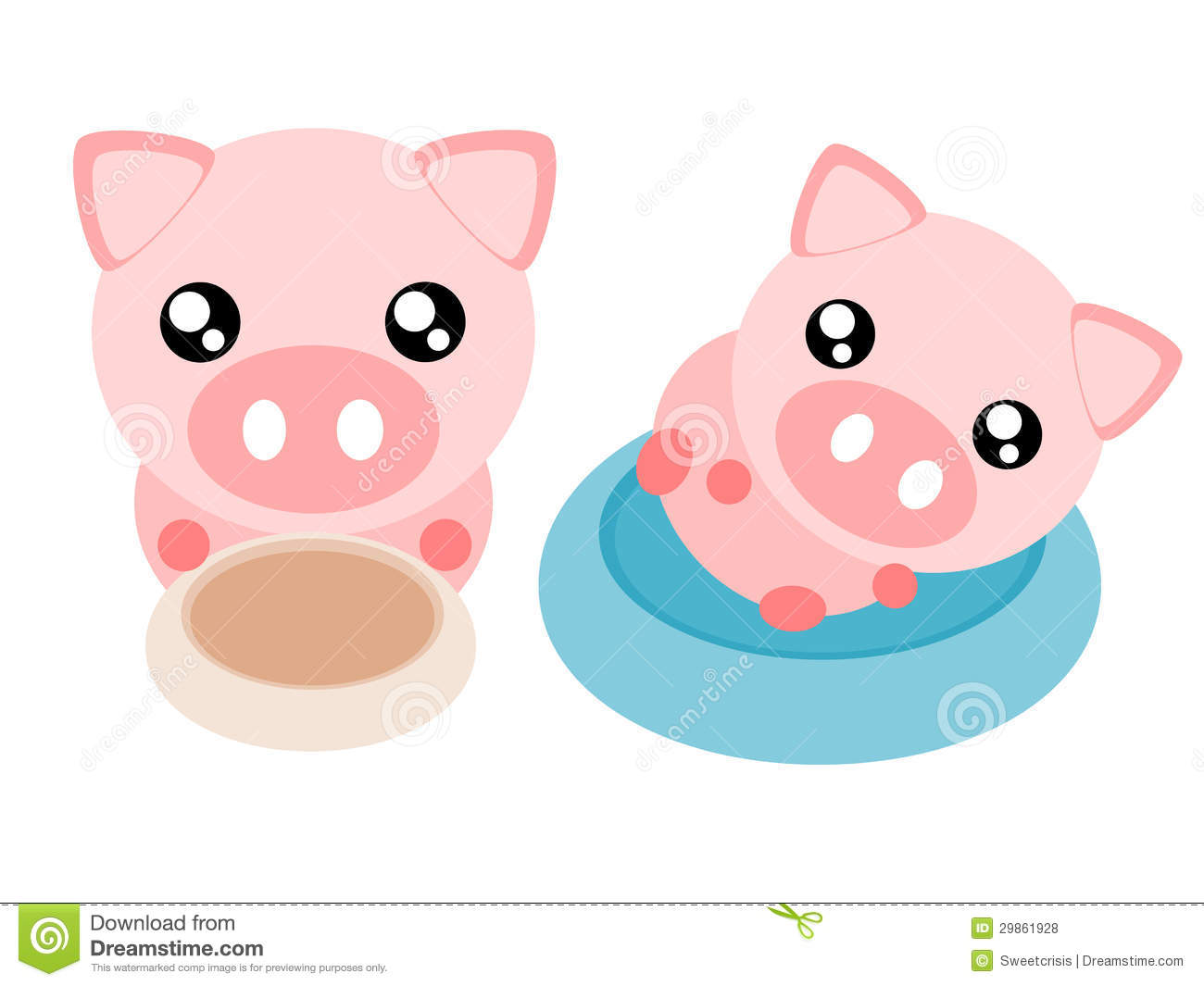 Cartoon Pig Illustration Royalty Free Stock Photos - Image: 29861928