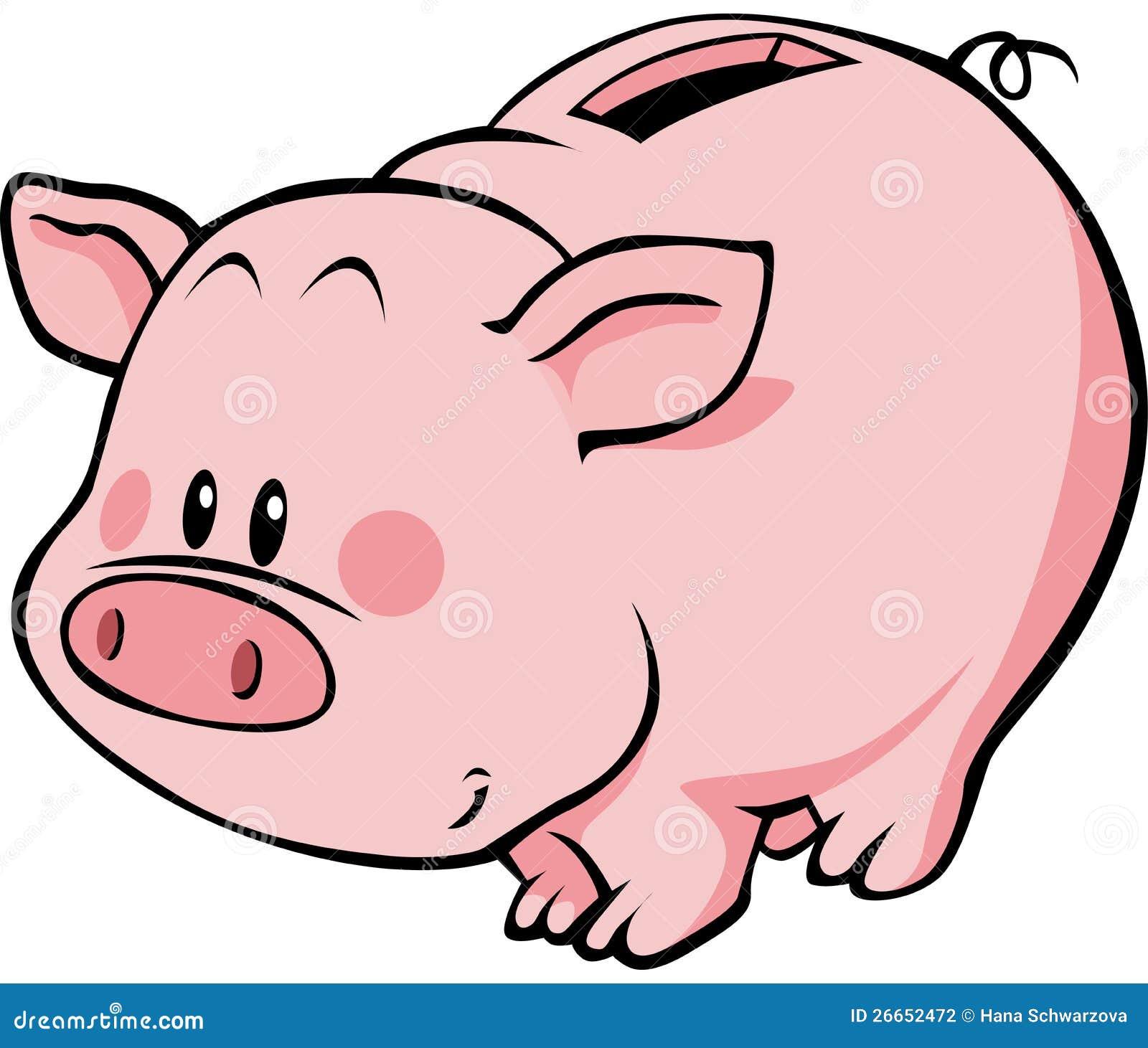 Cartoon Piggy Bank Stock Photography