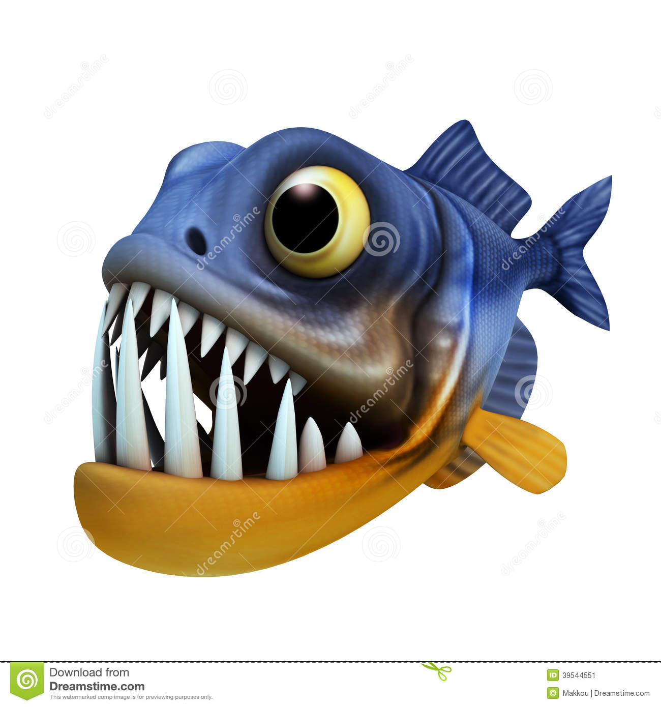 Cartoon Of Piranha Stock Illustration - Image: 39544551