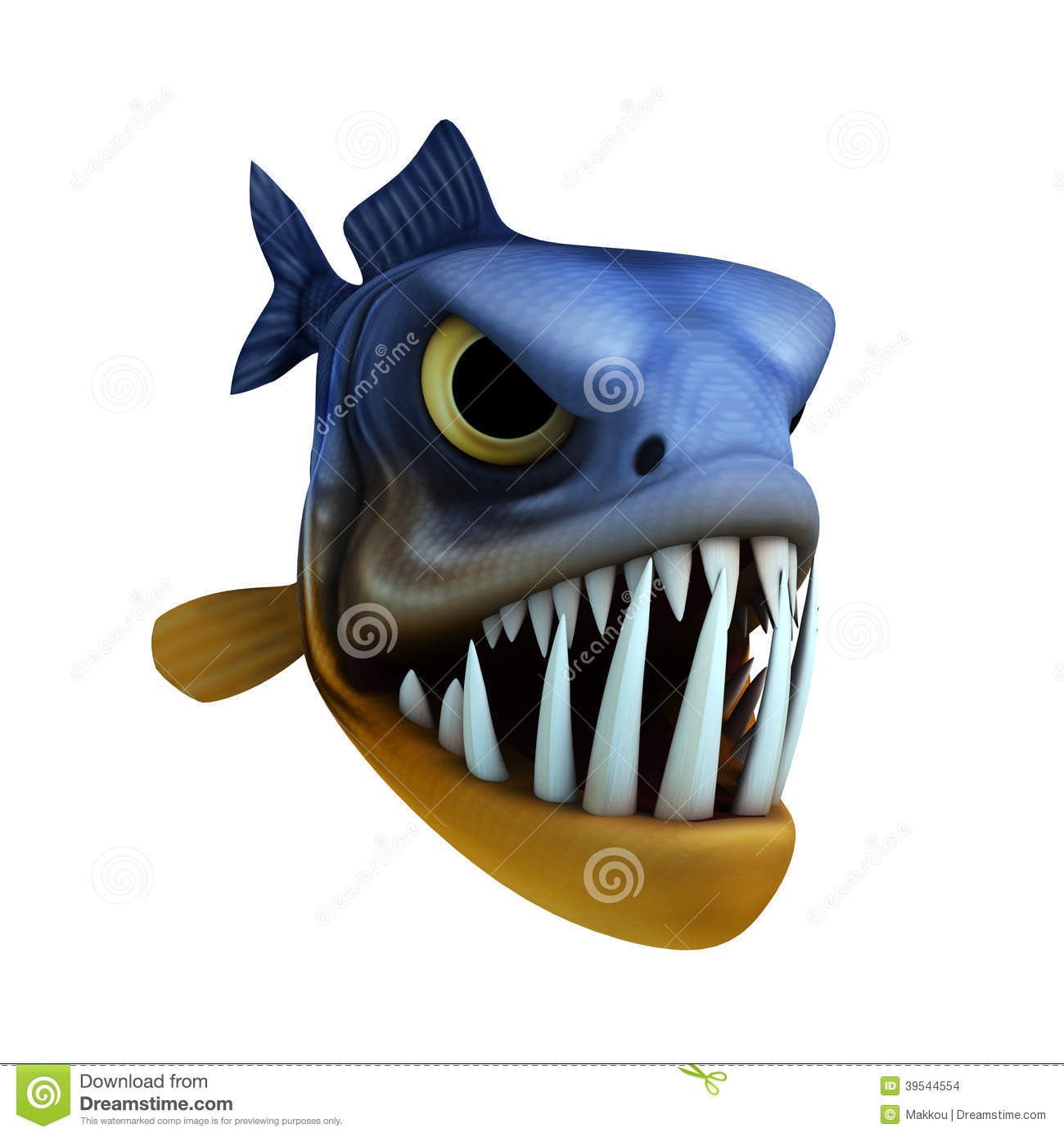 Cartoon Of Piranha Stock Illustration - Image: 39544554