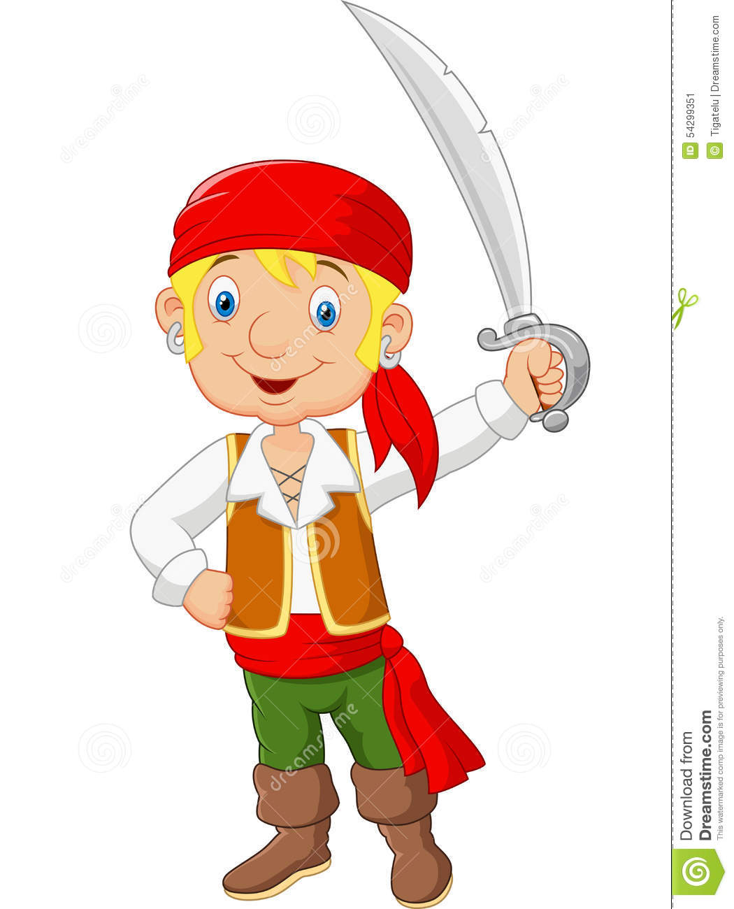 Cartoon pirate sword