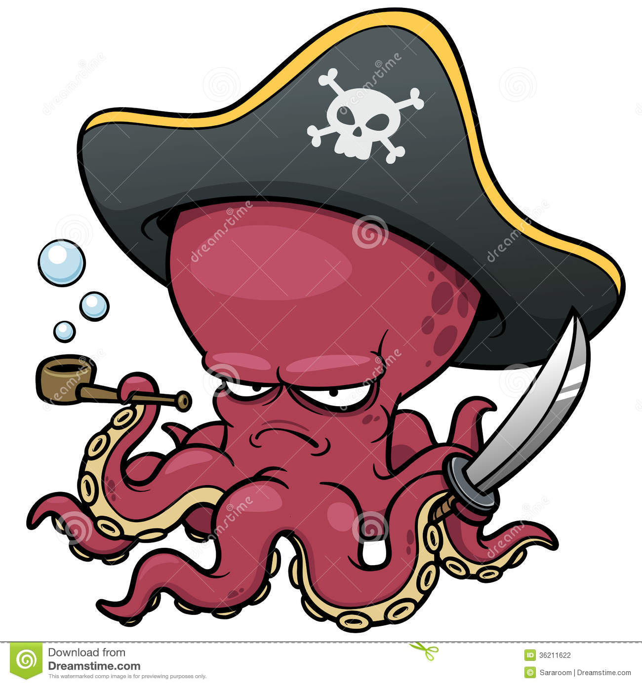 Evil octopus cartoon - photo#20
