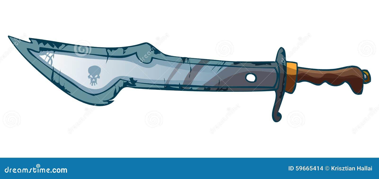 Cartoon Pirate Sword Vector Illustration