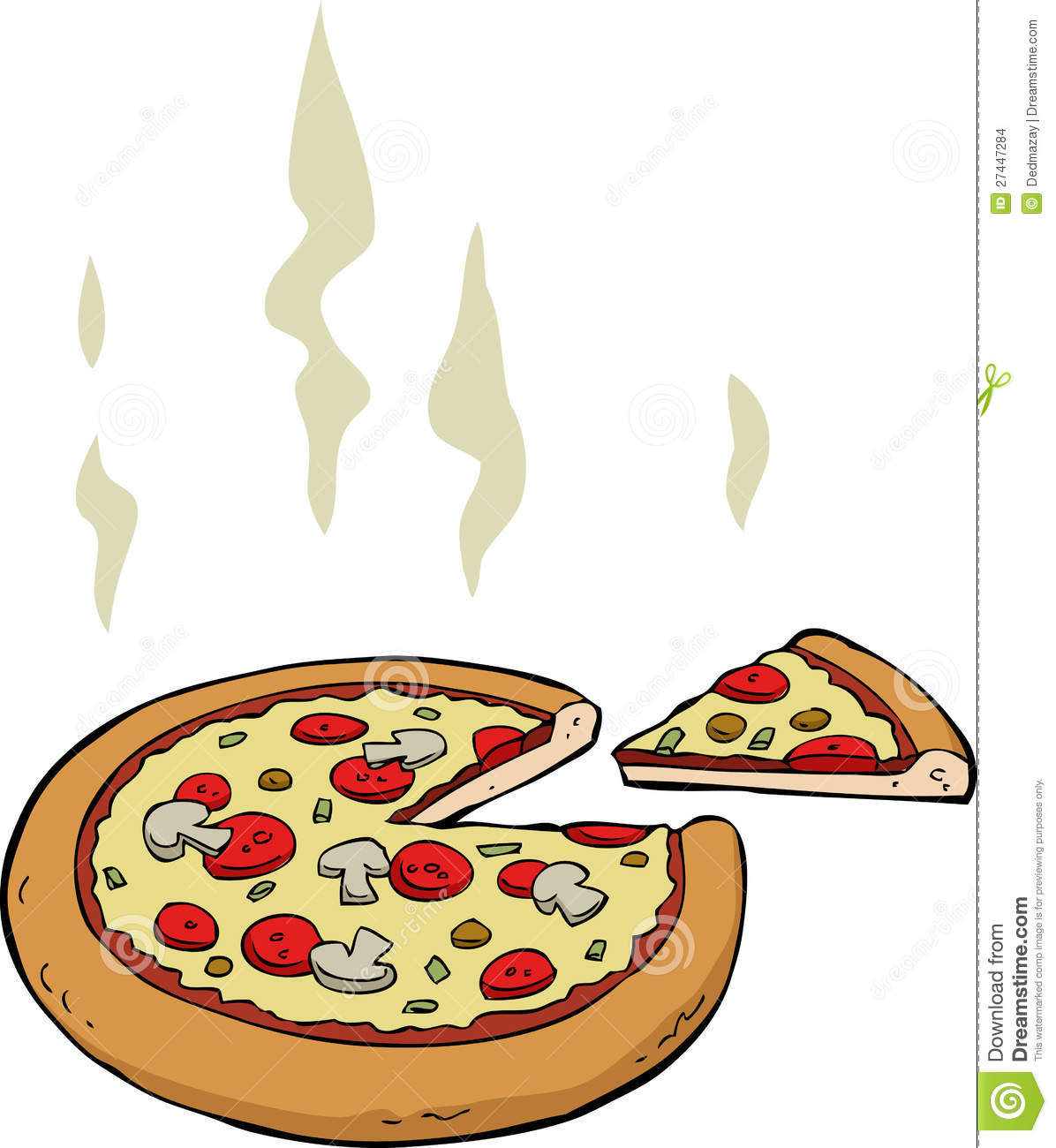 Cartoon Pizza Stock Images - Image: 27447284