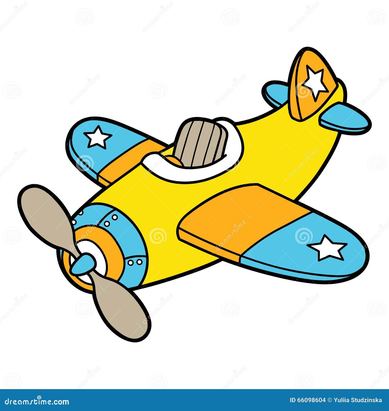 Cartoon Plane. Stock Vector