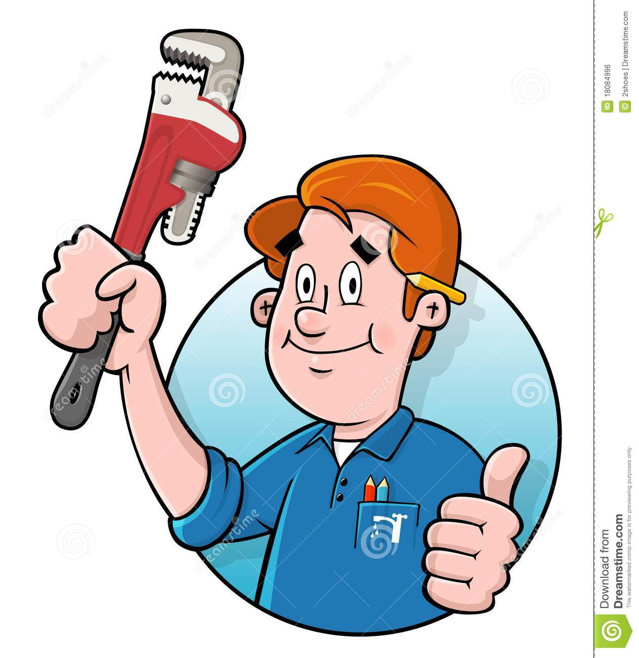 cartoon plumber logo stock vector illustration of handyman clipart free download free handyman clipart images