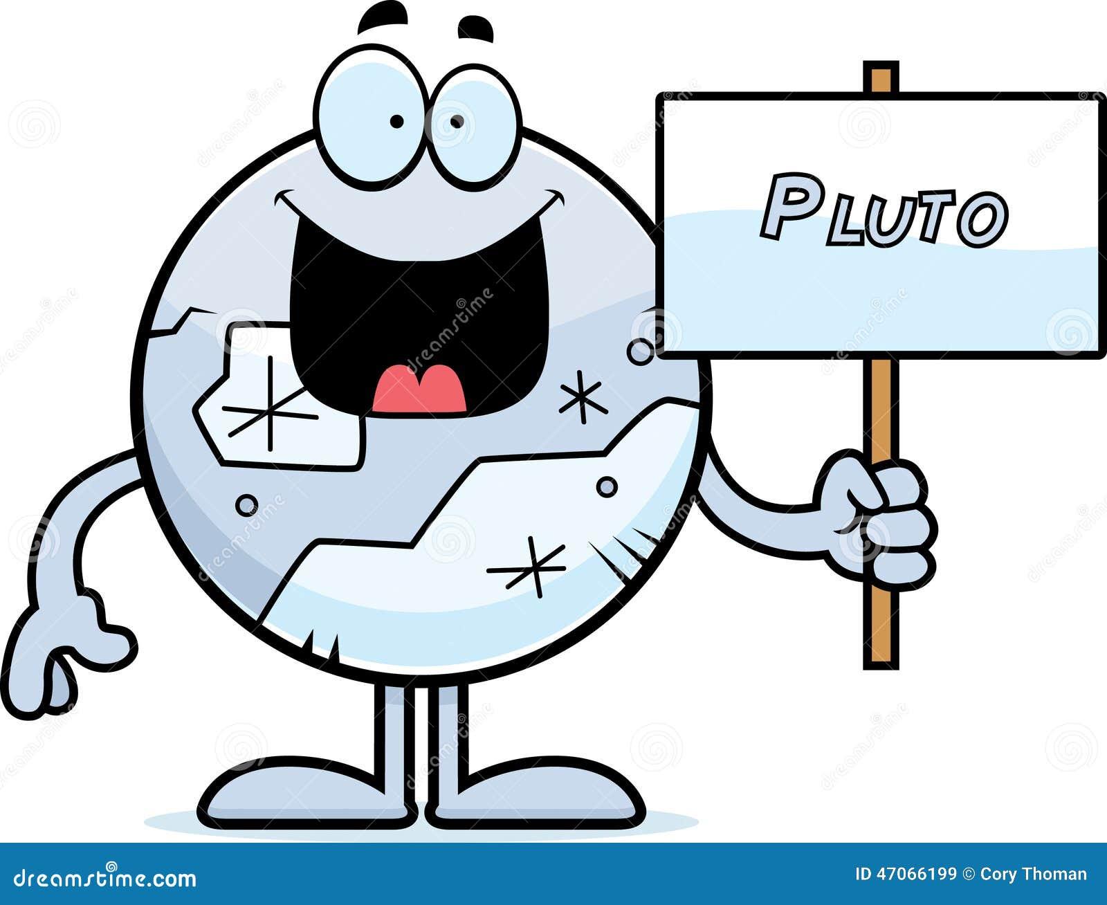 Cartoon Pluto Sign Stock Vector - Image: 47066199