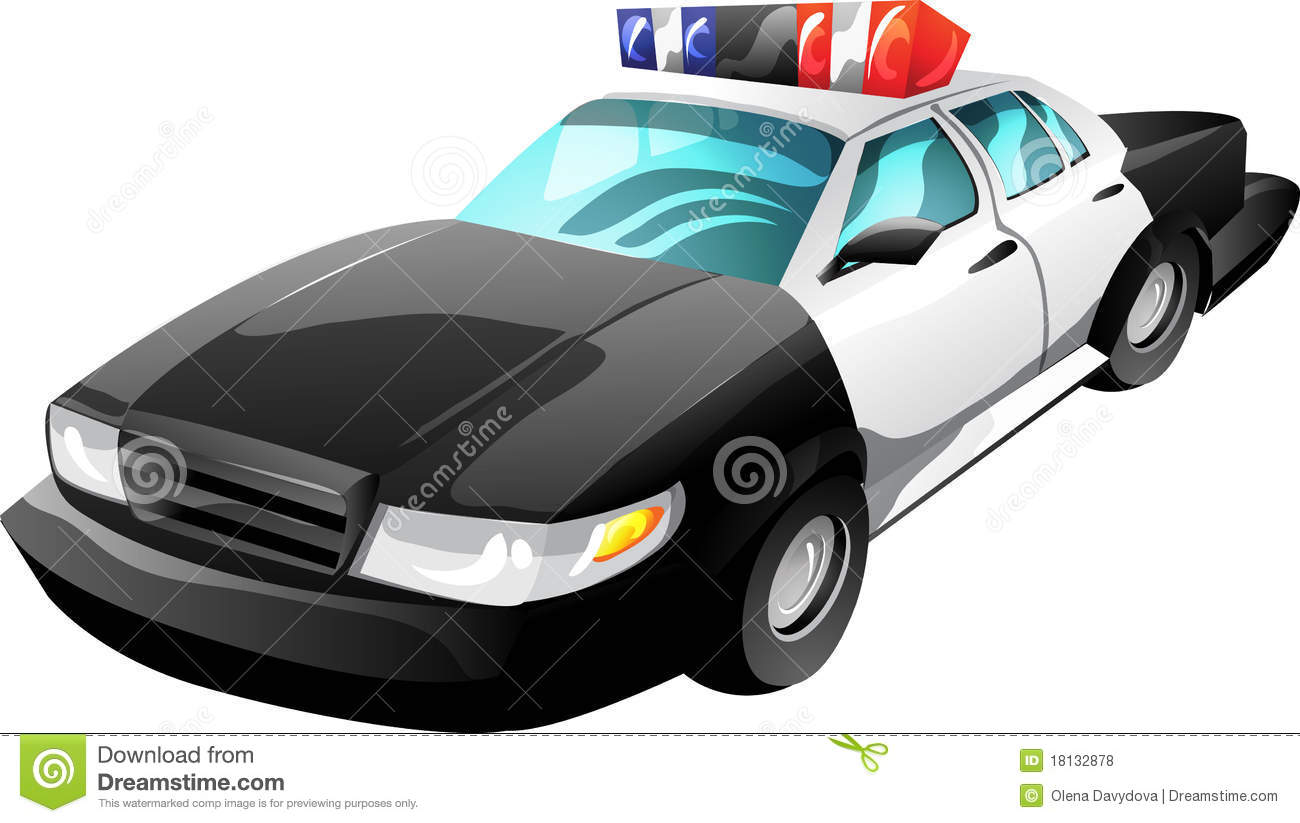cartoon police car royalty free stock photos image 18132878. Black Bedroom Furniture Sets. Home Design Ideas