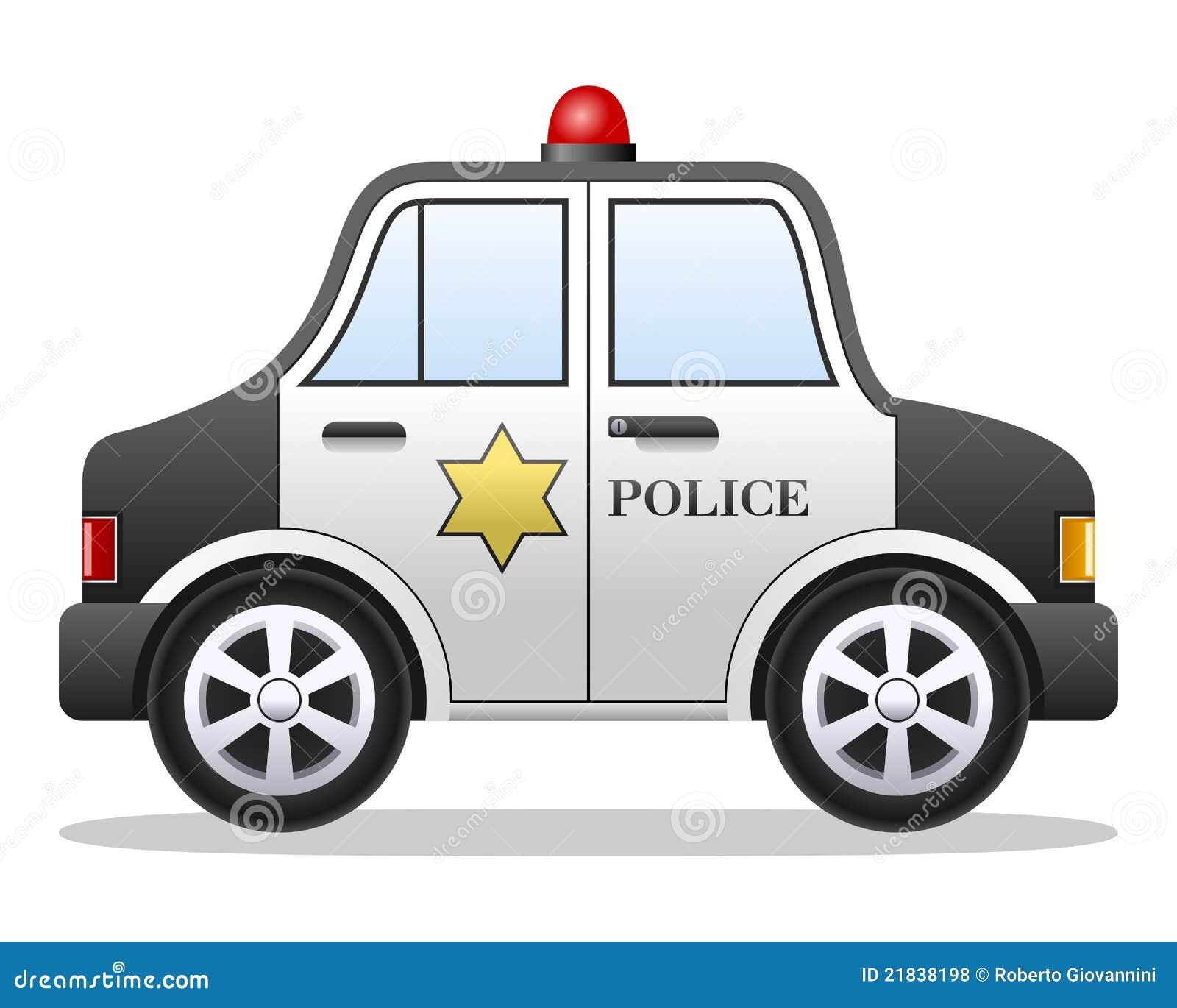 Cartoon Police Car Royalty Free Stock Photos