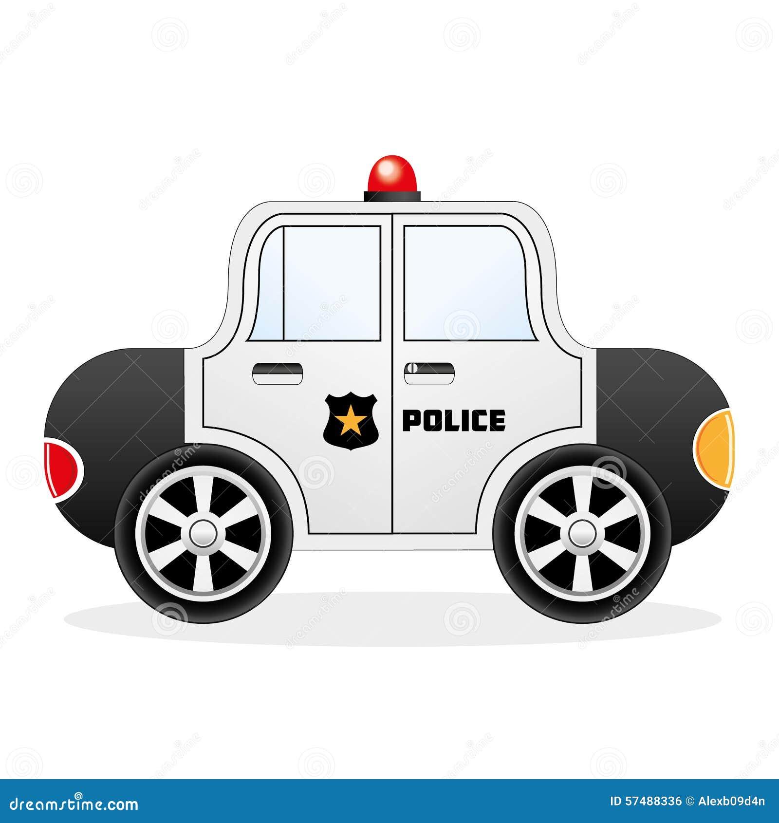 Cartoon Police Car Stock Vector
