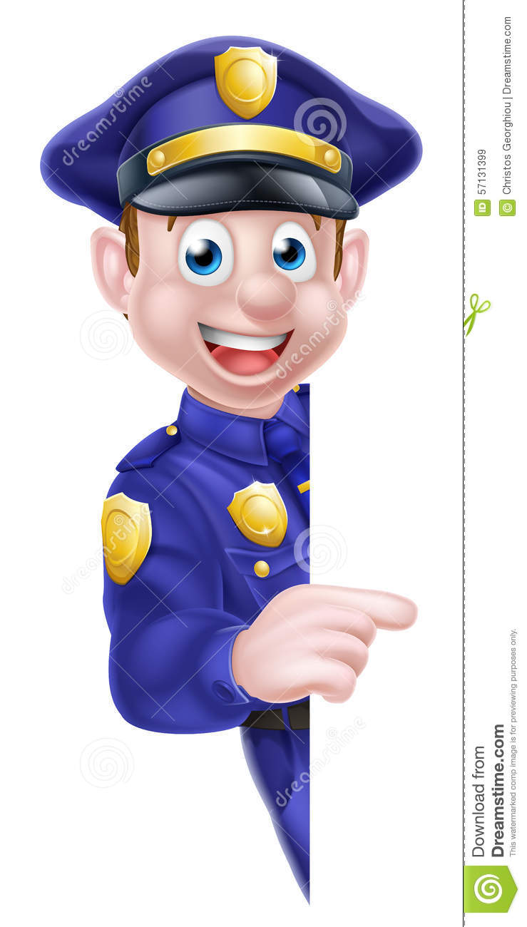 cartoon police man sign stock vector image 57131399 friendly clip art coloring page friendly clipart pic