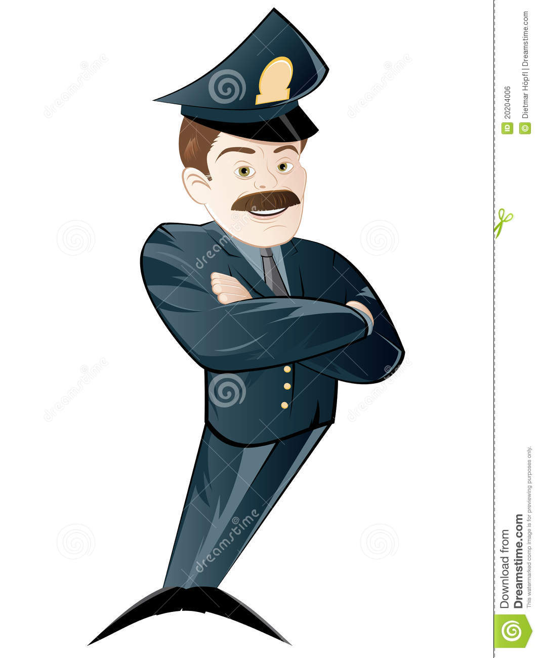A Policeman Across The Police Station Vector Illustration ...