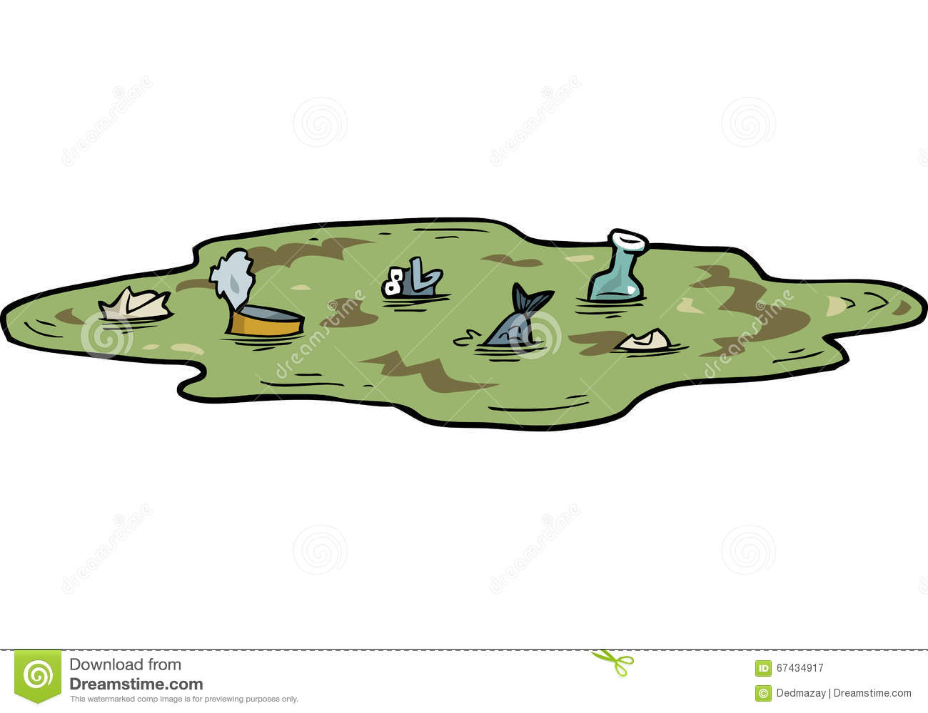 Cartoon Pond With Hippo And Wild Duck Stock Vector - Image: 70986148