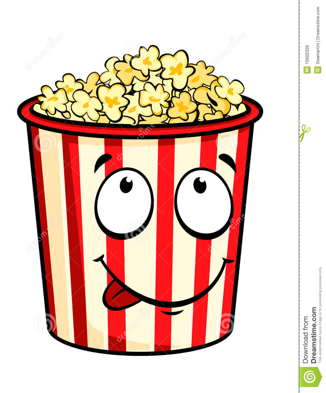 Cartoon Popcorn Stock Vector Illustration Of Salty Film