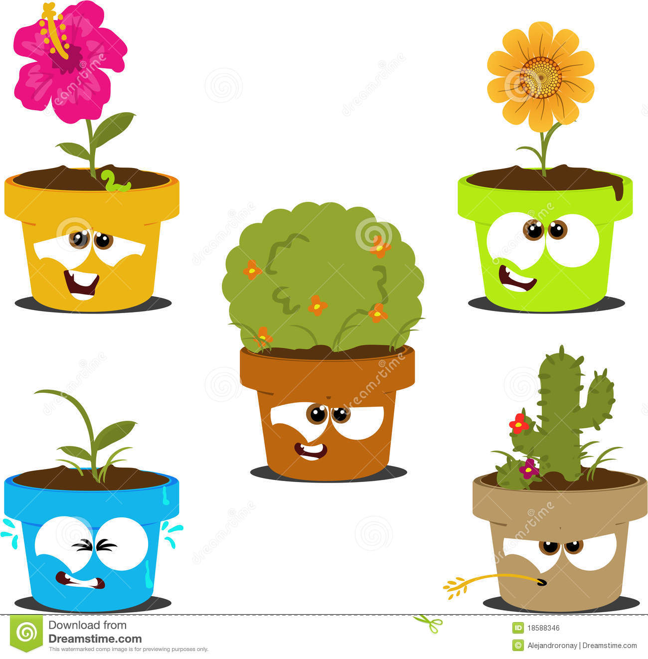 Cartoon Pots Stock Illustration Image Of Cartoon