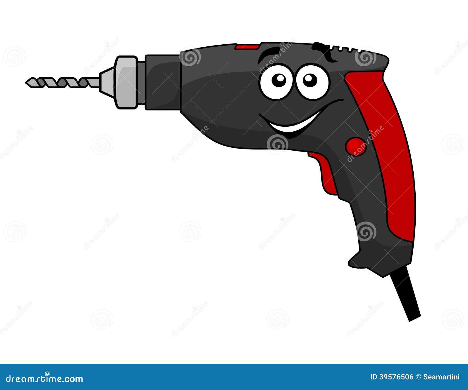 Power Drill Bit Clip Art : Cartoon power drill tool stock vector image of