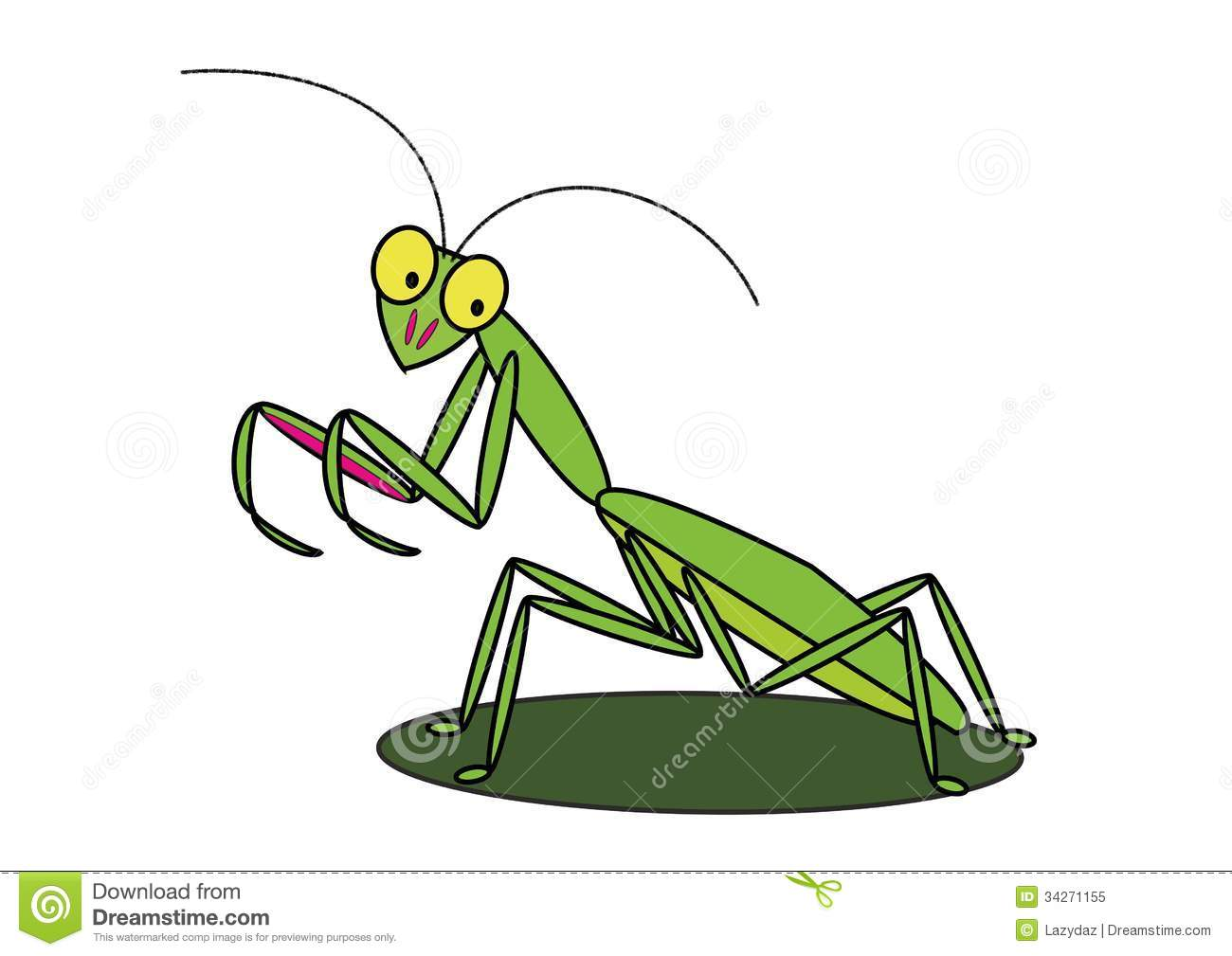 Cartoon Praying Mantis Royalty Free Stock Photo - Image: 34271155