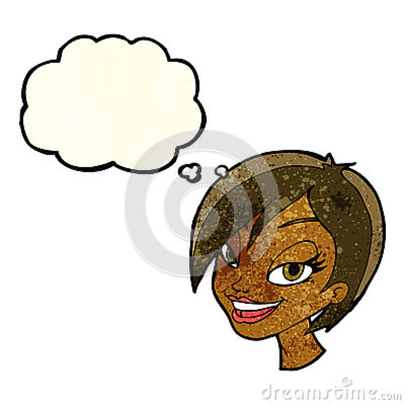 Cartoon Pretty Flower Face With Speech Bubble Stock Vector ... |Pretty Thought Bubbles