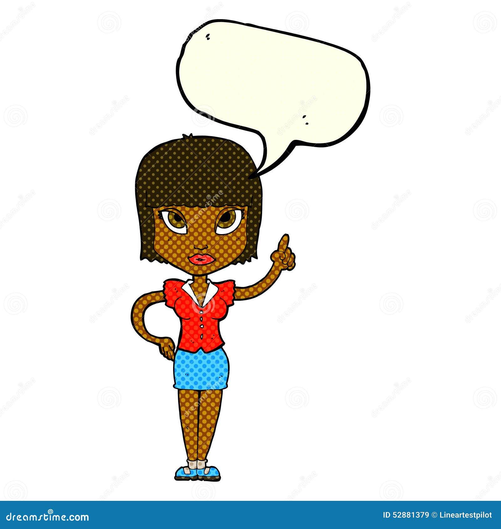 Cartoon Pretty Girl With Idea With Speech Bubble Stock ... |Pretty Thought Bubbles