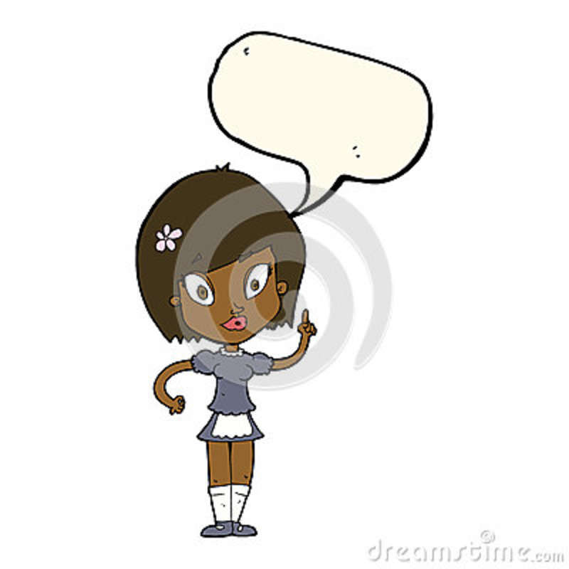 Cartoon Pretty Female Face With Thought Bubble Stock Photo ... |Pretty Thought Bubbles