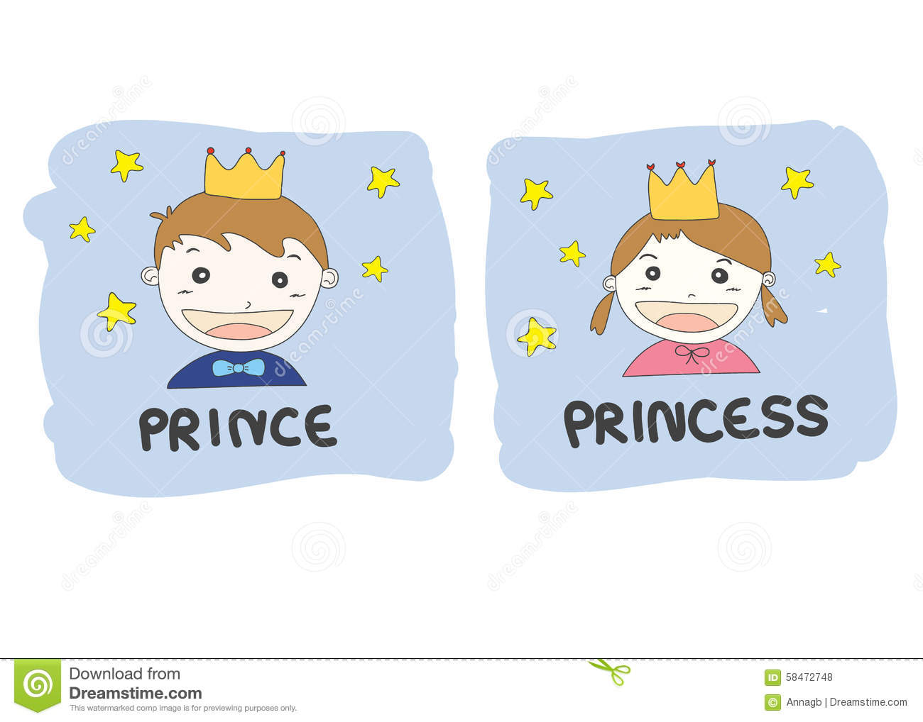 Couple shirt design download - Cartoon Prince And Princess With Gold Crown Yellow Stars And