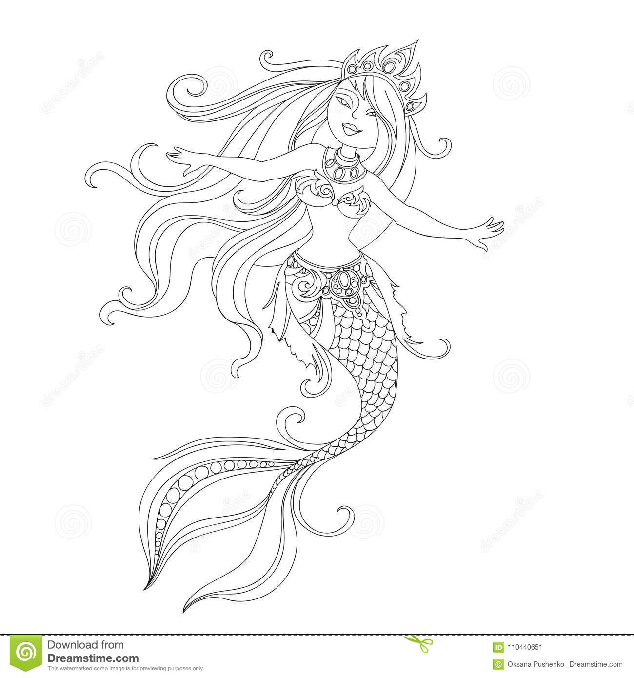 24+ Easy Mermaid Line Drawing