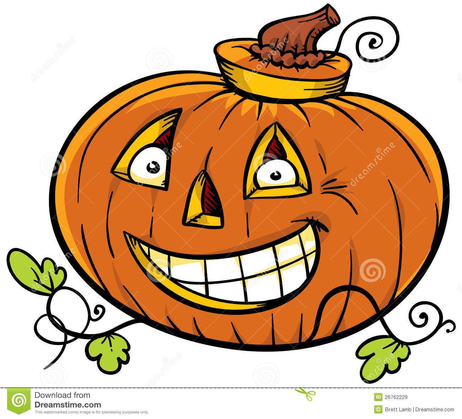 Cartoon Pumpkin Royalty Free Stock Images - Image: 26762229