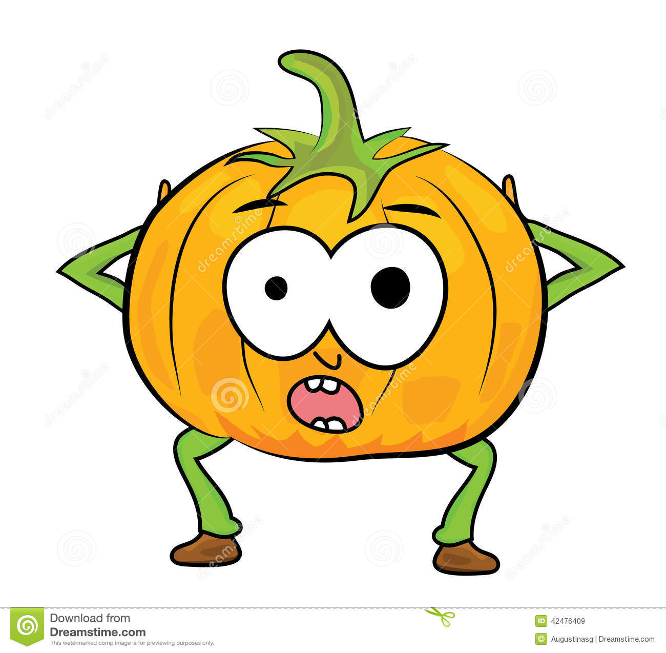 Cartoon Pumpkin Character Stock Illustration - Image: 42476409