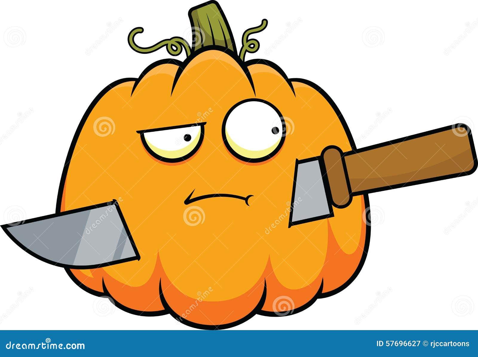Cartoon Pumpkin And Knife Stock Vector - Image: 57696627