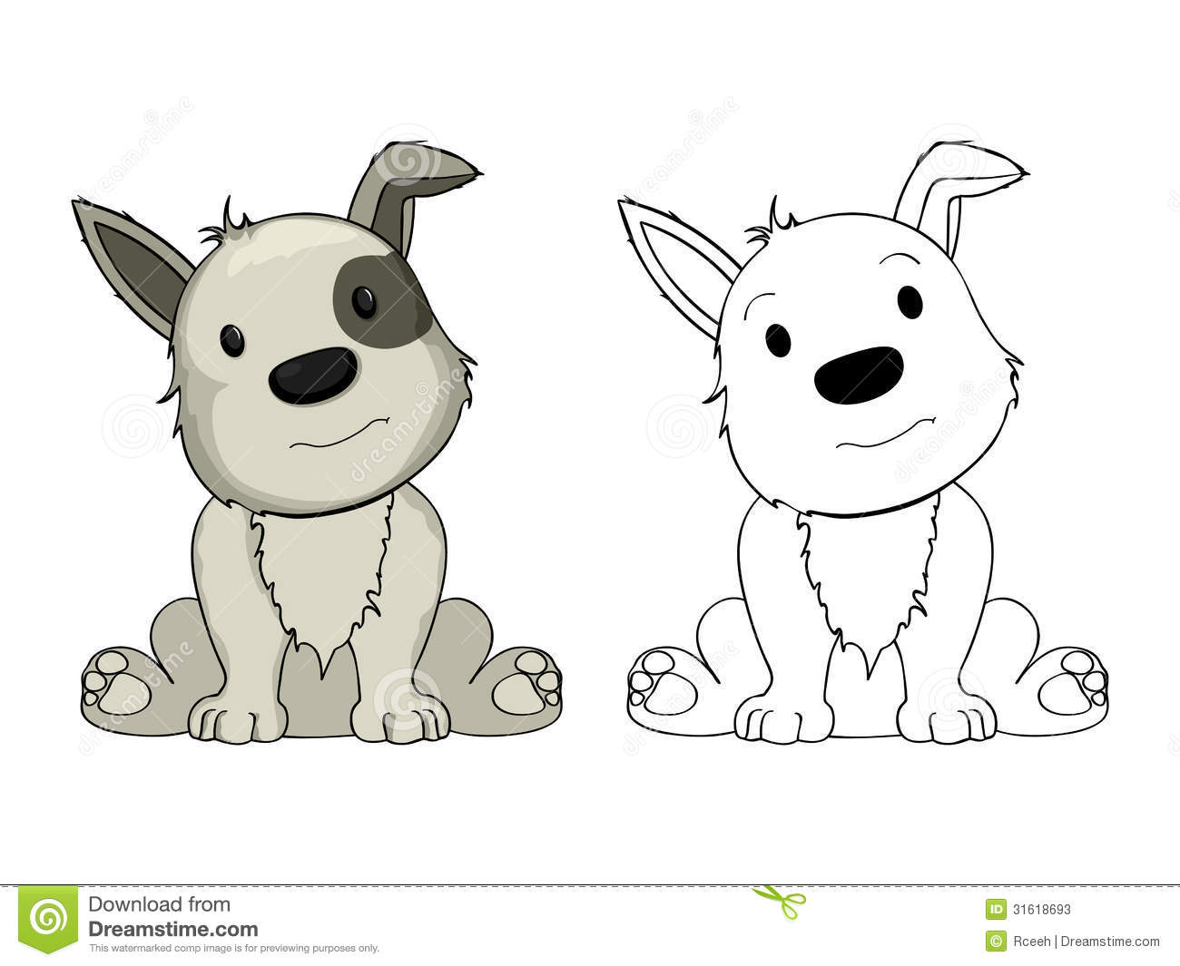 Cartoon Puppy Stock Photos - Image: 31618693