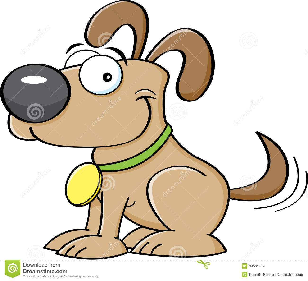 clipart dog wagging tail - photo #11